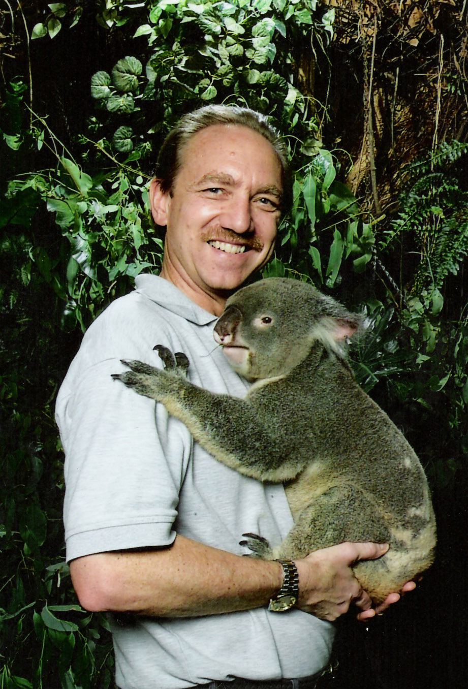 picture of Anson holding koala